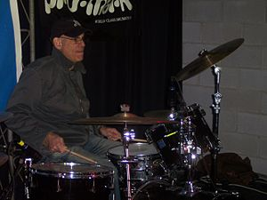Liberty DeVitto - Liberty DeVitto plays at a Camp Jam session in the Atlanta area. February 2007