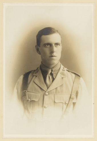 Lieutenant Laurence Street, an ANZAC officer who fought and died in the Battle of Gallipoli, age 21 LieutenantLawrenceStreetArmy.png