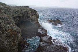 The cliffs of Xodre in Lifou