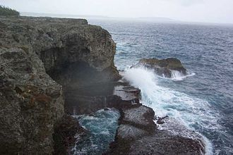 Lifou - The cliffs of Xodre in Lifou