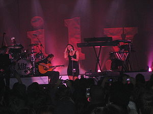 Smile (Lily Allen song) - Allen performing during her 2009 concert tour.