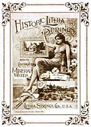 Lithia Springs, Georgia - Vintage Lithia Spring Water poster, 1888