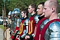 Lithuanian soldiers stand in formation to display traditional medieval armament during a cultural day in Pabrade, Lithuania, June 8, 2013, during exercise Saber Strike 2013 130608-A-HW973-006.jpg