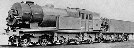Ljungström steam turbine locomotive with air preheater, c.1925 (Swedish National Museum of Science and Technology). Ljungström steam turbine locomotive with preheater 1925.jpg