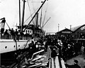 Loading passengers on Pacific Coast Steamship Co's steamship CORONA, Pier B, foot of Main St, Seattle (CURTIS 9).jpeg