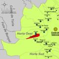 Localització d'Alaquàs respecte de l'Horta Oest.png