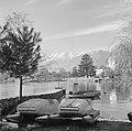 Locarno Haventje met boten en steiger, de Alpen op de achtergrond, Bestanddeelnr 254-4781.jpg