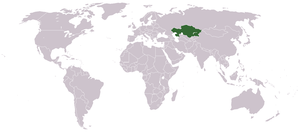 History of Kazakhstan - Location of Kazakhstan in Central Asia