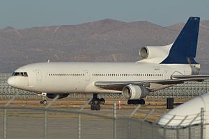 Southern California Logistics Airport - A Lockheed L-1011 Tristar in storage at the airport.