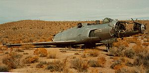 Lockheed XF-90 - Remains of the second XF-90 prototype.