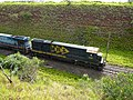 Locomotiva de comboio que passava sentido Guaianã na Variante Boa Vista-Guaianã km 237 em Campinas - panoramio.jpg