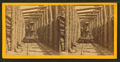 Locomotive in log snowshed corridor, by Childs, B. F..png