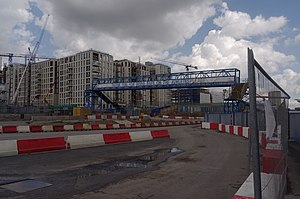 English: Construction work on the London 2012 ...