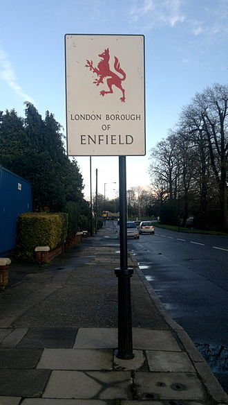 London Borough of Enfield - London Borough of Enfield street sign.