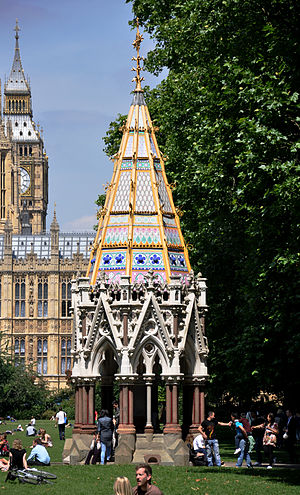 Victoria Tower Gardens - Image: London Buxton Memorial Fountain 2011