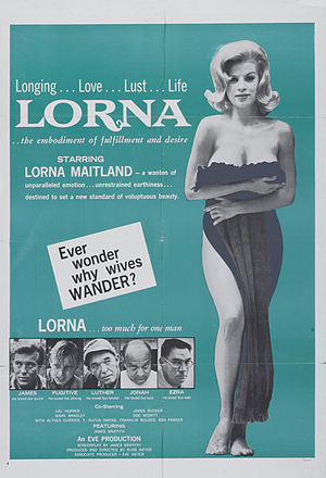 Lorna (film) - Theatrical poster to Lorna (1964)