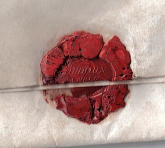 Lady Flora Hastings - Wax seal on a letter written by Hastings