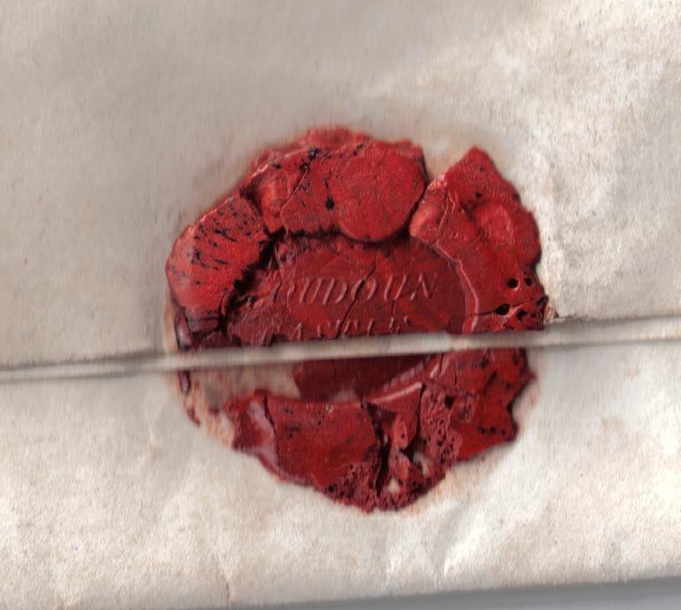 Loudoun Castle wax seal