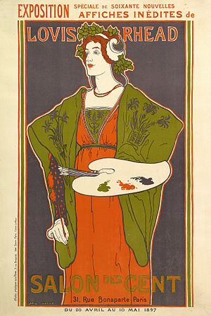 Salon des Cent - May 1897 exposition poster by Louis Rhead