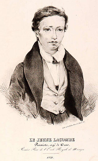 Louis Lacombe - Louis Lacombe, (incorrectly stated as age 10 instead of age 12) in 1831, upon winning first prize for piano at the École Royale de Musique.