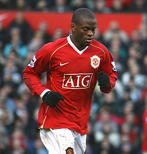 Louis Saha - Saha, scorer of United's second goal, pictured during the 3–1 Manchester derby win on 9 December 2006
