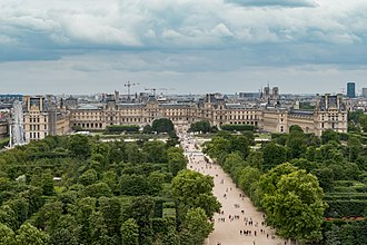 Tuileries Garden - The Tuileries Garden looking towards the Louvre
