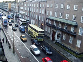 N11 road (Ireland) - Former N11, now R138 looking South on Leeson Street