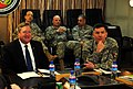 Lt. Gen. William B. Caldwell IV, commander NATO Training Mission - Afghanistan, meets with the Honorable Michael Donley, Secretary of the Air Force, at Camp Eggers. (4330616400).jpg