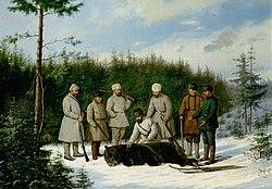 Ludwig Pietzsch Russische Bärenjagd
