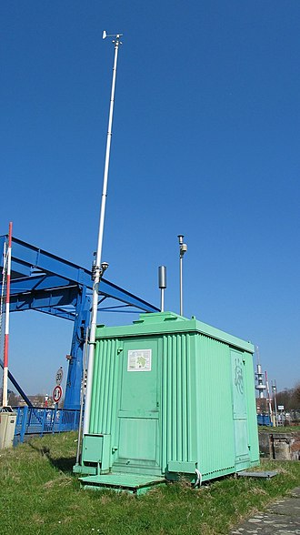 Particulates - Air pollution measurement station in Emden, Germany