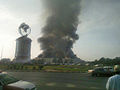 Lulu Hypermarket Burning.JPG