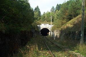Łupków Pass - Tunnel entrance on the Polish side