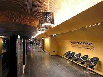 Franklin D. Roosevelt (Paris Métro) - Image: Métro Paris station Franklin D Roosevelt aménagement 2011