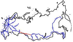 R254 highway (Russia) - Image: M51 karte RF