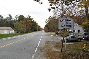 Massachusetts Route 101 - Southbound entering Gardner from Ashburnham