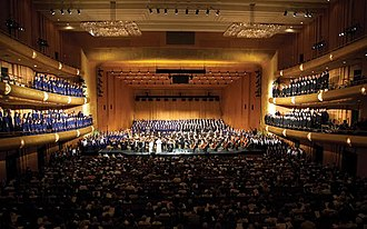"""Millennial Choirs and Orchestras - MCO performing """"Messiah in America"""" in Abravanel Hall in 2011"""