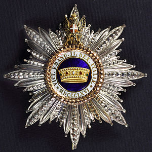 Order of the Crown of Italy - Star of the Grand Cordon set of the Order