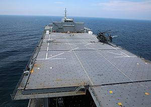 USS Lewis B. Puller (ESB-3) - Image: MH 53E of HM 15 lands on USNS Lewis B. Puller (T ESB 3) on 16 June 2016