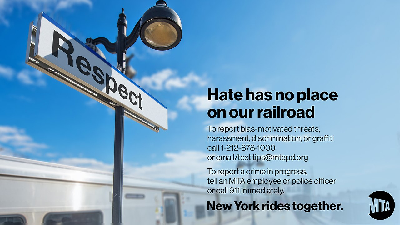 MTA Anti-Hate Campaign Hate Has No Place on the MTA (49581473087).jpg