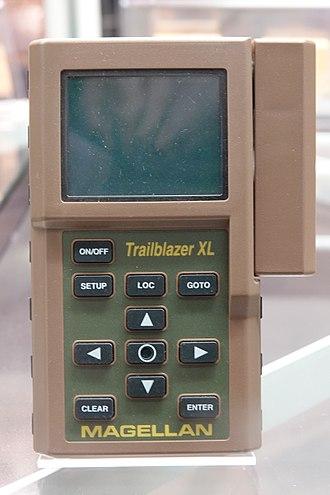 GPS navigation device - A 1993 Magellan Trailblazer XL GPS Handheld Receiver