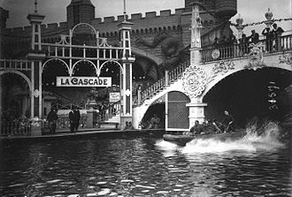 Shoot the Chute - La Cascade, Magic-City, Paris, France, 1913