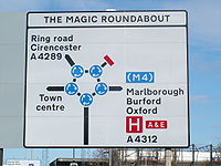 Magic Roundabout Schild db