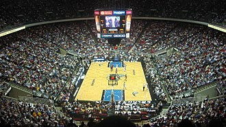 Amway Arena - The Orlando Magic playing against the Los Angeles Lakers in Amway Arena.