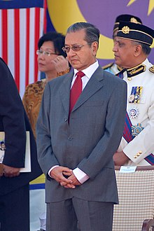93c9dd885 مهاتير في احتفالات العيد الوطني في أغسطس 2007.