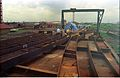 Main Auditorium Structural Fabrication - Convention Centre Complex Under Construction - Science City - Calcutta 1994 366.JPG