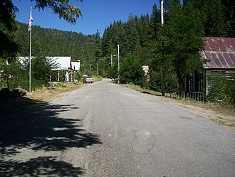 Forest, California - Main Street in Forest