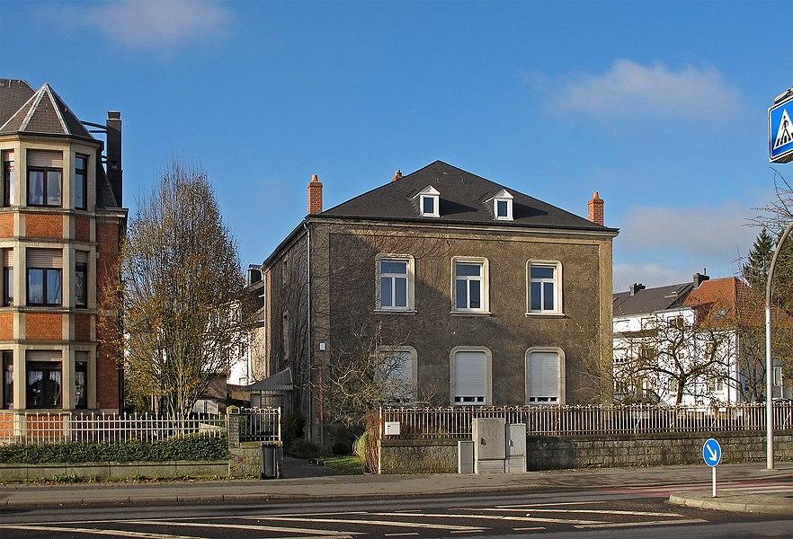 Maison Mousset, home of, built for and decorated by painter Eugène Mousset, in Esch-sur-Alzette.