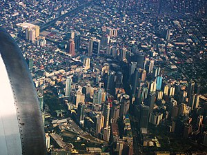 Makati Central Business District Aerial Photo