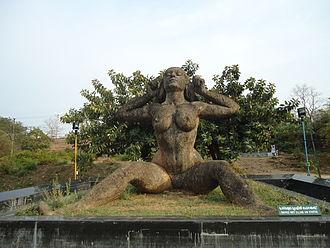 Yakshini - Statue of Yakshi by Kanayi Kunjiraman at Malampuzha Dam
