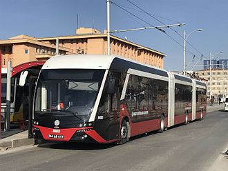 "Malatya - The ""Trambus"" trolleybus system opened in 2015."